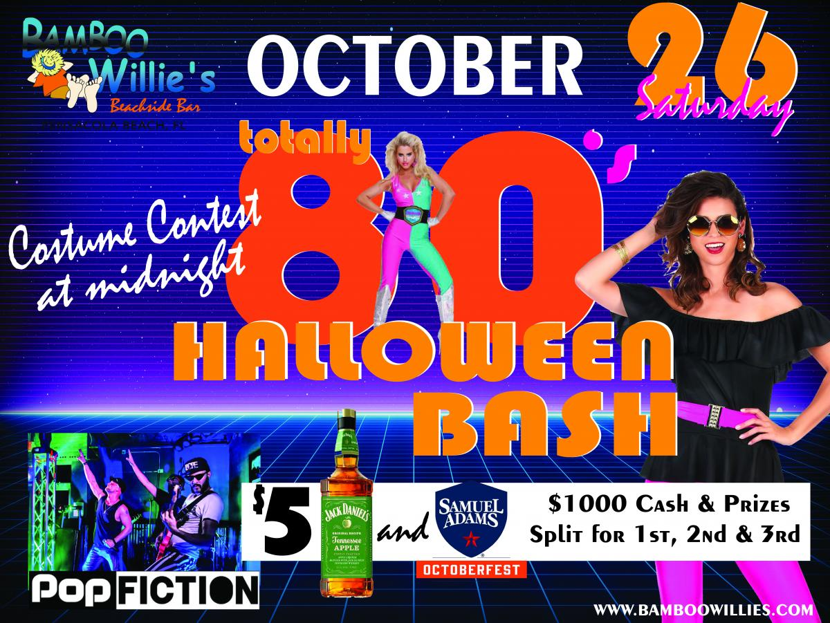 Halloween Party With Pop Fiction At Bamboo Willies