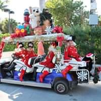 Holiday Golf Cart Parade