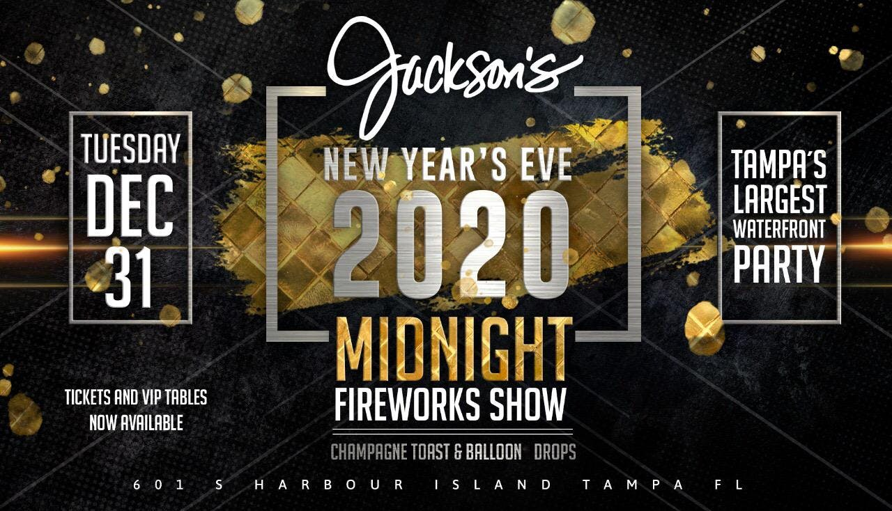 jackson s bistro new year s eve 2020 celebration tampa fl dec 31 2019 9 00 pm bistro new year s eve 2020 celebration