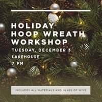 Holiday Hoop Wreath Workshop