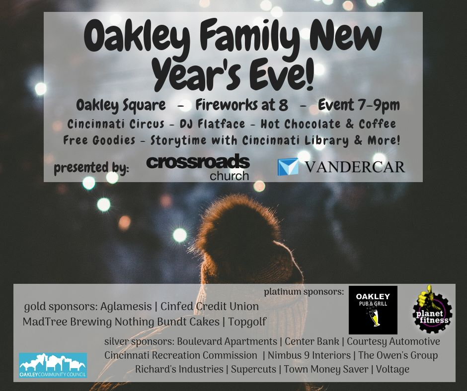 Oakley Family New Year's Eve, Cincinnati OH - Dec 31, 2019 ...