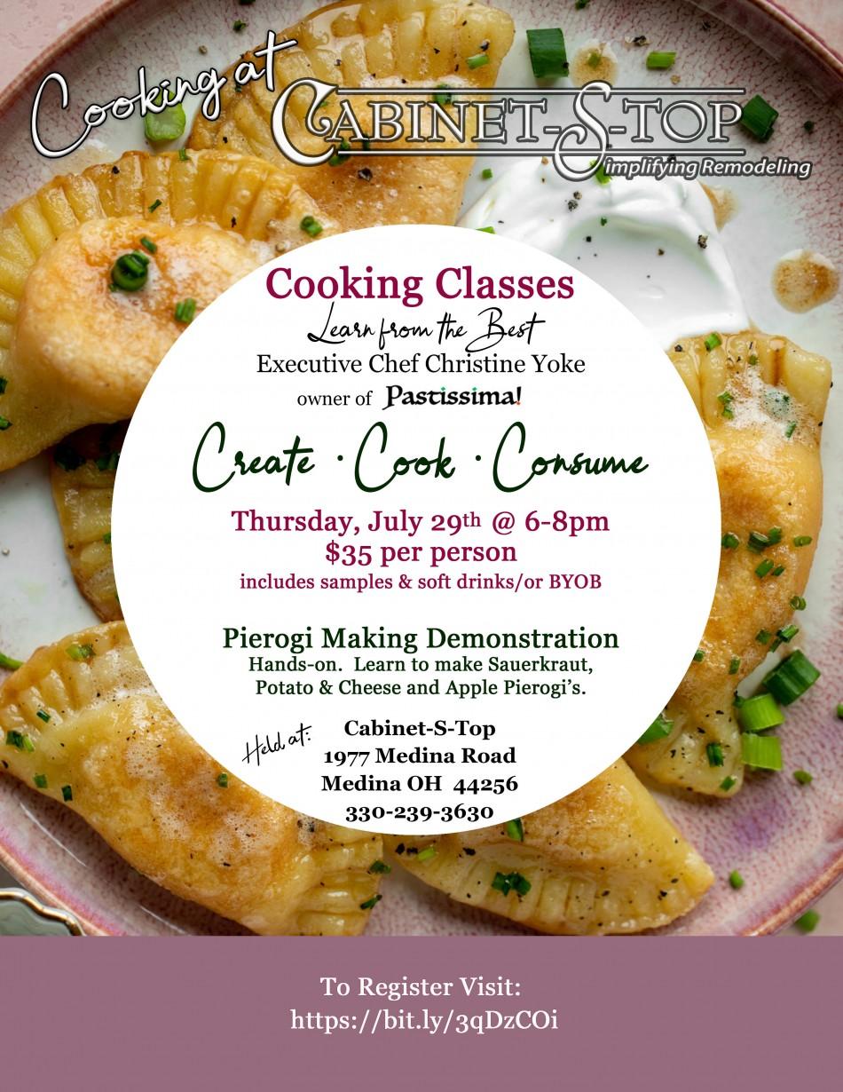 Cooking at Cabinet-S-Top: Pierogi Making Demonstration