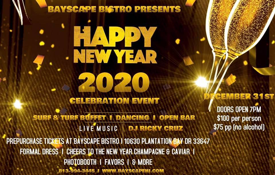 New Years Eve Celebration!, Tampa FL - Dec 31, 2019 - 7:00 PM
