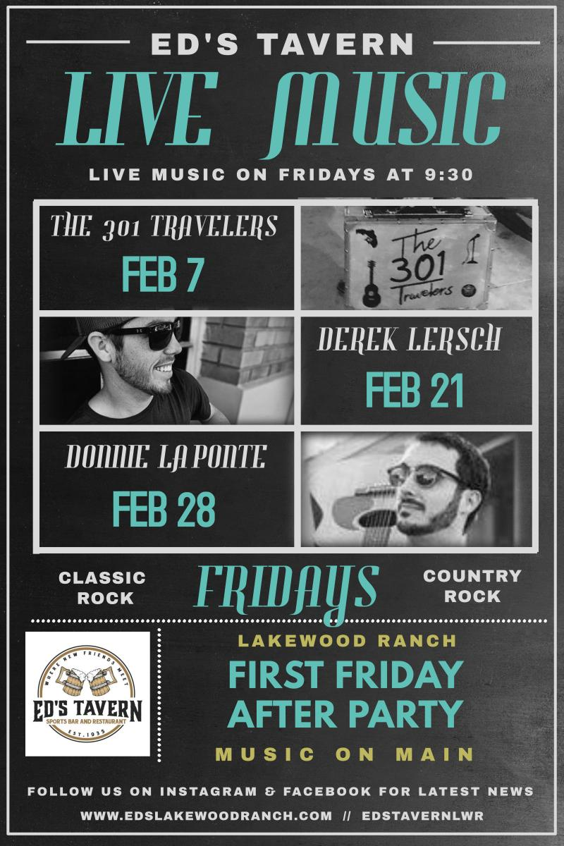 Live Music Fridays at Ed's Tavern