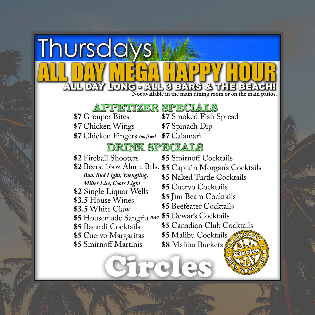 Thursday Mega Happy Hour