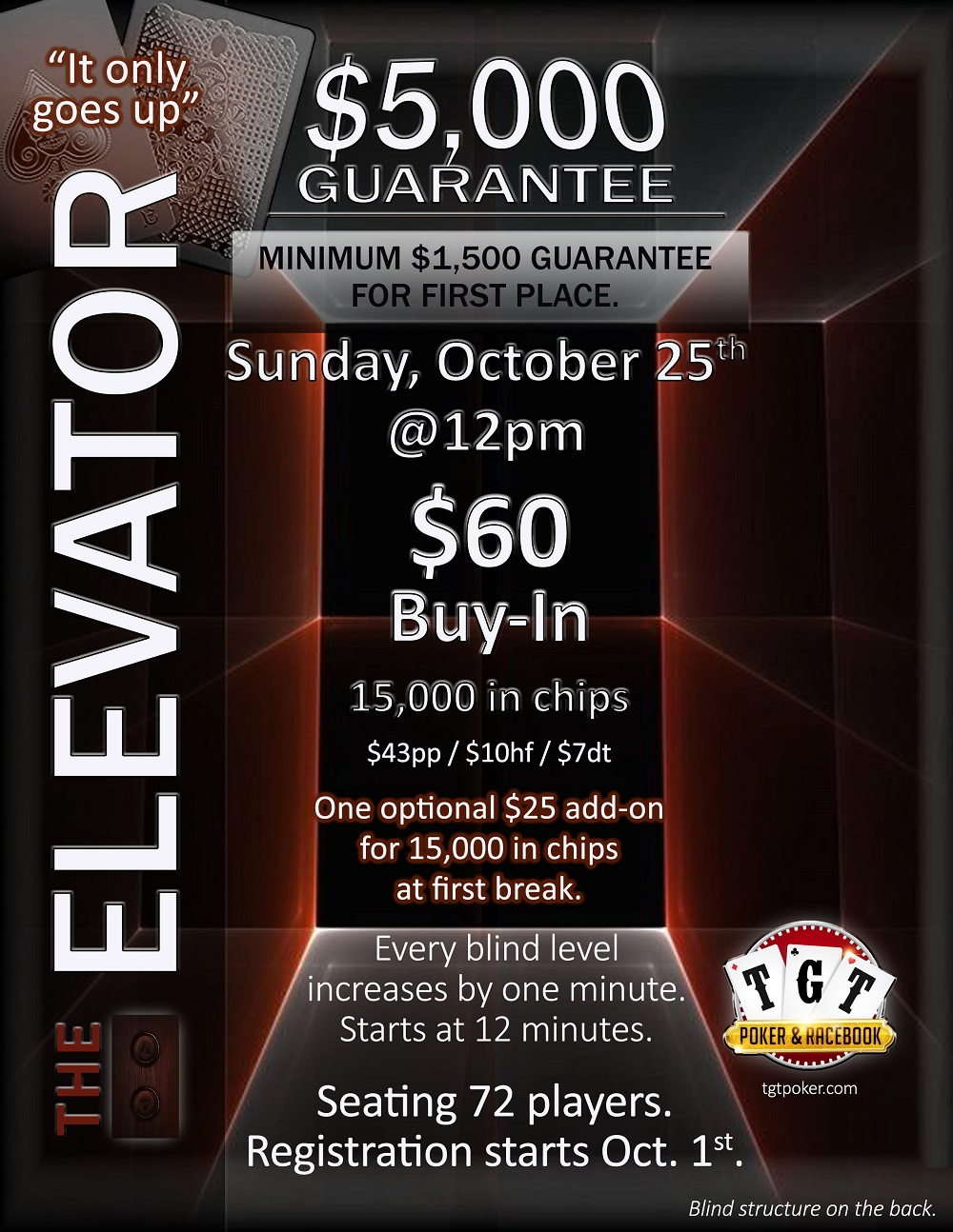 $5,000 Guarantee Elevator Promotion