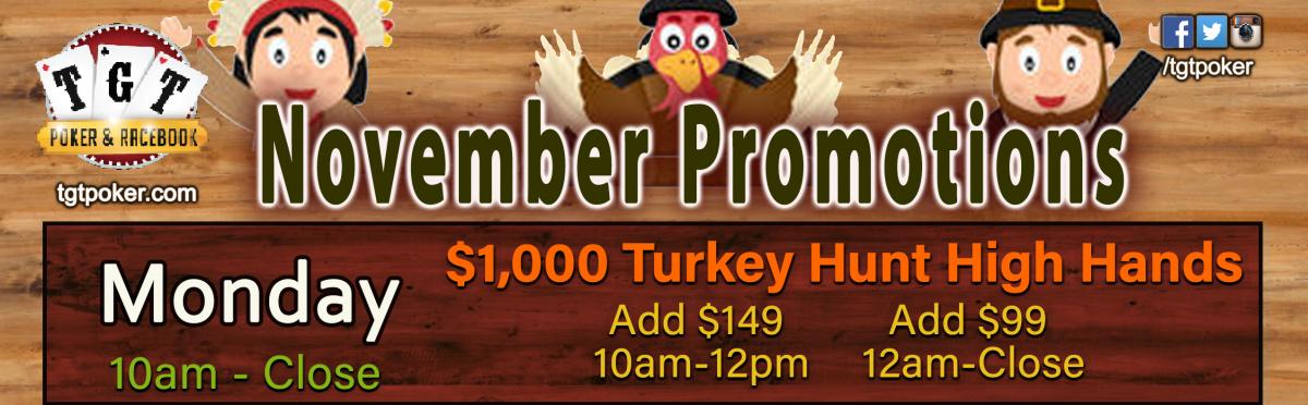 $1,000 Turkey Hunt High Hands