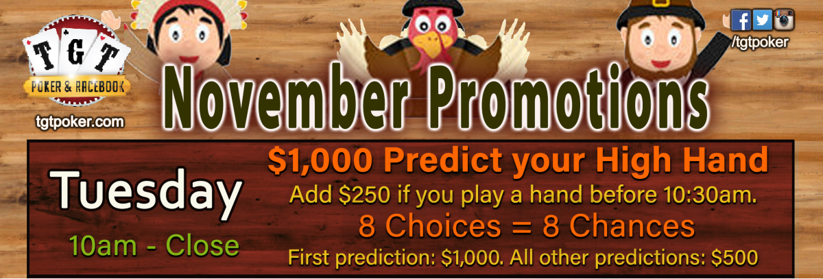 $1,000 Predict Your High Hand