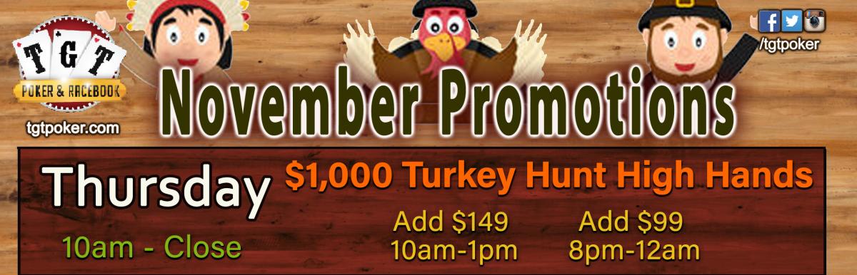 $1,000 Turkey Hunt High Hands at TGT