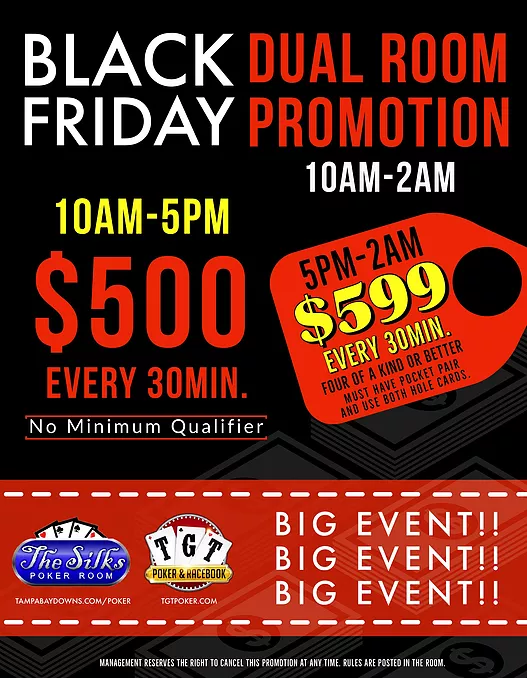 Black Friday Dual Poker Room Promotion