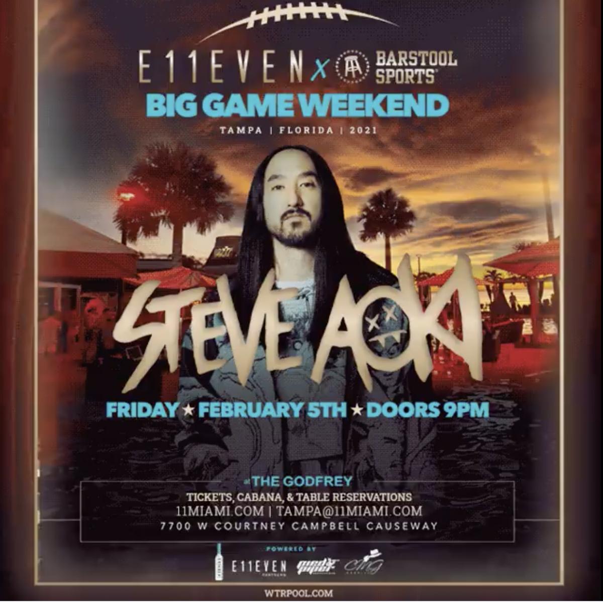 Tampa Pop-Up: SB 2021 Steve Aoki | wtr Tampa