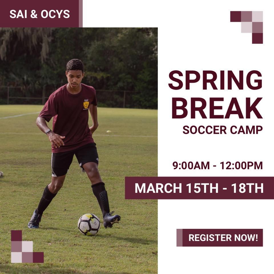 2021 Spring Break Soccer Camp
