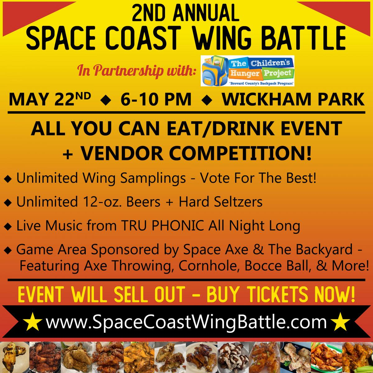2nd Annual Space Coast Wing Battle in Partnership with The Children's Hunger Pro