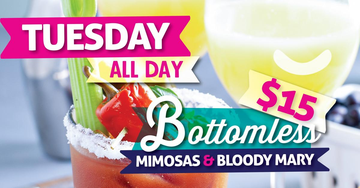 Bottomless Mimosas and Bloody Marys at Caddy's Gulfport 6/15
