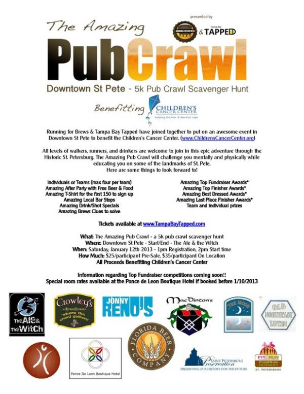 The Amazing 5k Pub Crawl 2013 St Petersburg Clearwater Fl Jan 12 2013 1 00 Pm