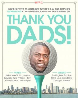 Celebrate Father's Day and Netflix's Fatherhood at our waterfront driving range!