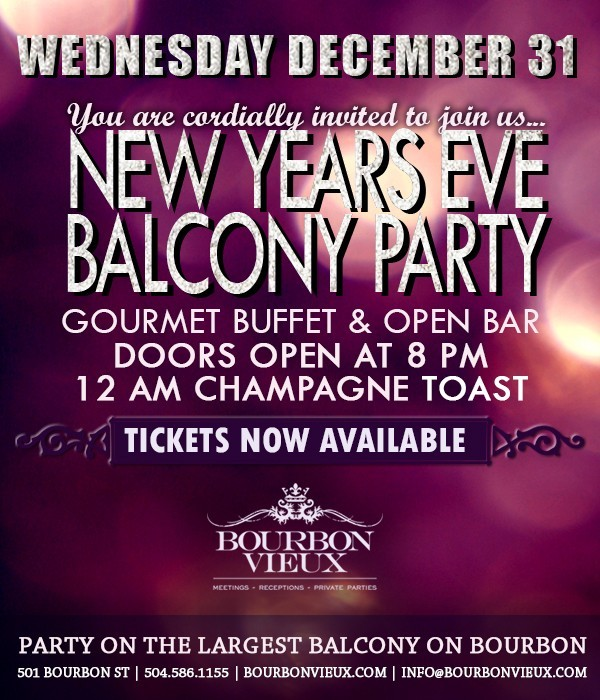 New Years Eve Balcony Party 2015, New Orleans LA - Dec 31 ...