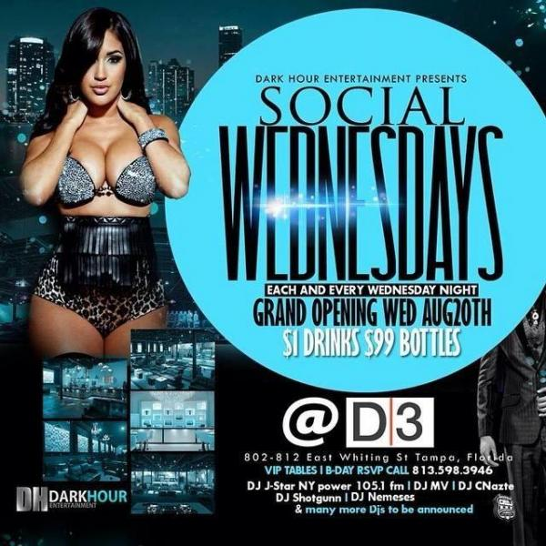 DISTRICT-3 NightClub Tampa's Newest & Biggest Edition  $1Drinks & Free cover.