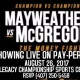 THE MONEY FIGHT MAYWEATHER VS. McGREGOR FIGHT NIGHT PARTY
