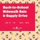 BACK-TO-SCHOOL SIDEWALK SALE & SUPPLY DRIVE