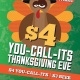 Thanksgiving Eve $4 you-call-its