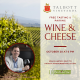 Complimentary Talbott Vineyards Wine and Cheese Pairing