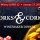 Forks & Corks Winemaker Dinner At PIER 22