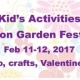 Kid's Activities at Edison Garden Festival
