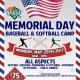 Memorial Day Camp