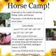 Saddle Up Horse Camp