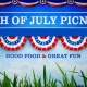 July 4th Potluck and Firework show