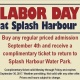 Labor Day at Splash Harbour