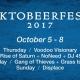 Oktobeerfest 2017 at Dunedin Brewery - 10/5 to 10/8