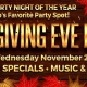 Thanksgiving Eve Holiday Bash at The Landing