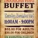 230 Fifth Thanksgiving Buffet Dinner