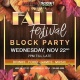 Fall Festival Block Party | Night Before Thanksgiving
