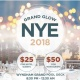 Grand Glow NYE 2018 - Party On The Pool Deck