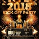 NYE 2018 Kick Off Party at Rooftop on the Square