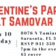 Valentine's Party at Samovar