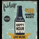 Friday Happy Hour at Saints and Sinners Pub