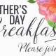 Mother's Day Breakfast, Sunday May 13th