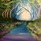 Wine & Canvas Painting Class: Enchanted Trail