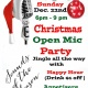 CHRISTMAS OPEN MIC PARTY