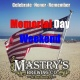 Memorial Day Weekend at Mastry's - Celebrate. Honor. Remember