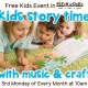 Free Kids Event: Kids Story Time with Music & Craft