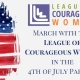 March with the League in the 4th of July Parade!