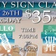 Fun DIY Painting Sign Class - Signs 4R Wines