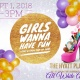 Girls Wanna Have Fun Chat & Chew All White Pop Up Shop