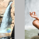 Yoga at Rainbow FAlls