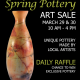 Spring Pottery Art Sale
